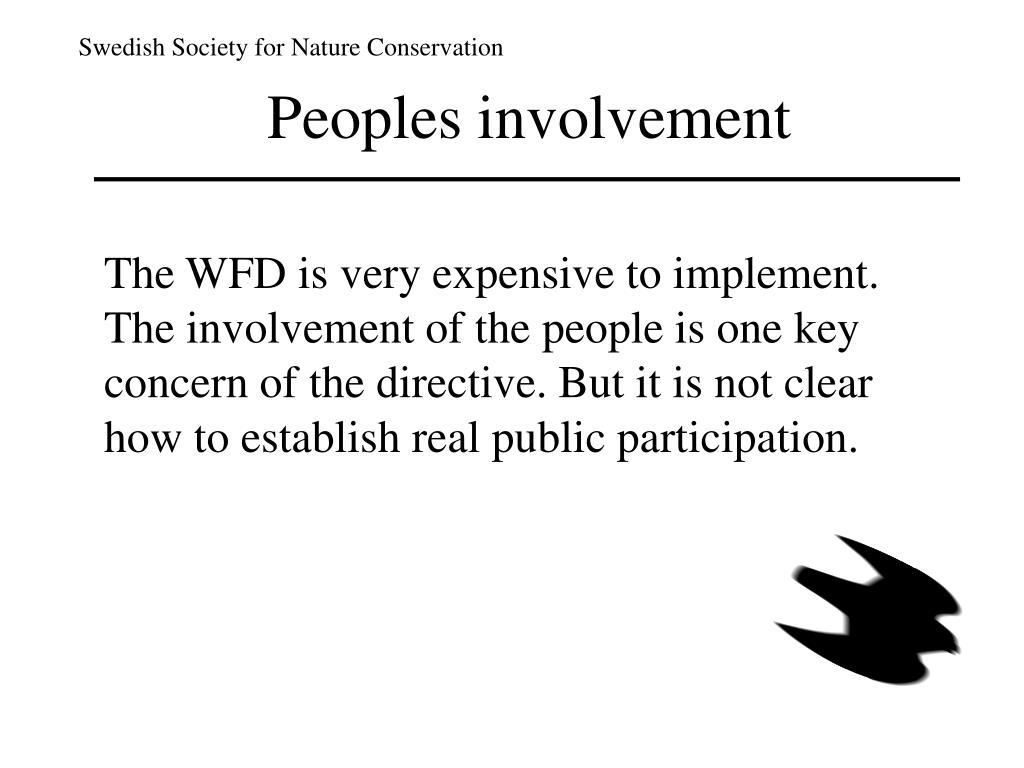 Peoples involvement