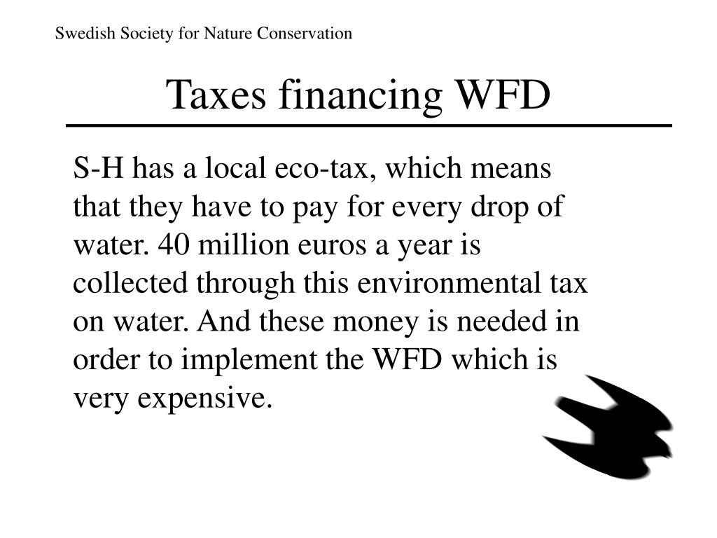 Taxes financing