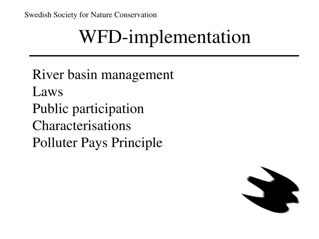 WFD-implementation