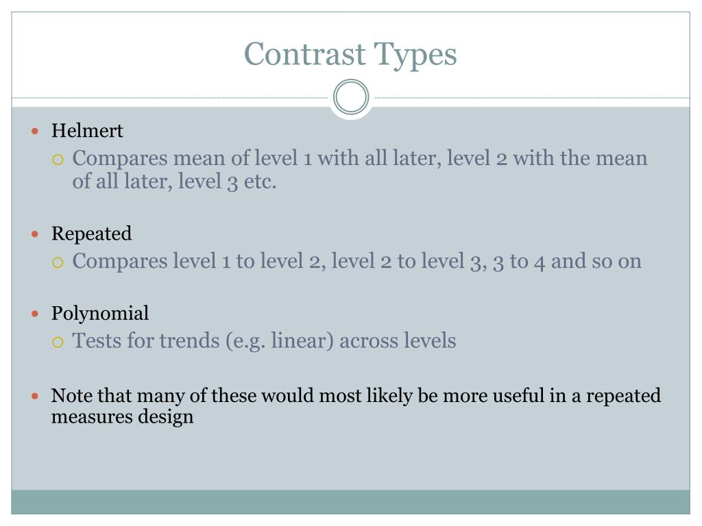 Contrast Types