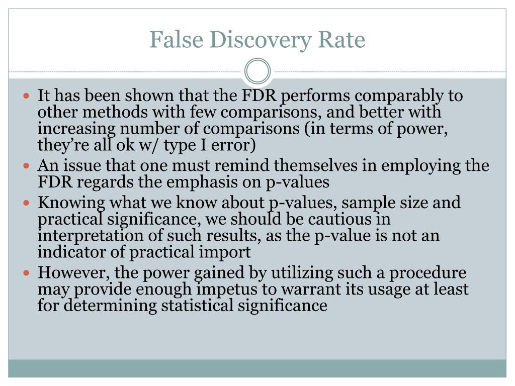False Discovery Rate
