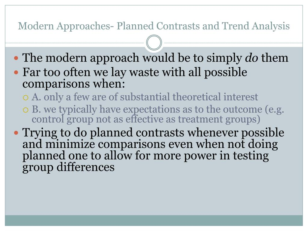 Modern Approaches- Planned Contrasts and Trend Analysis