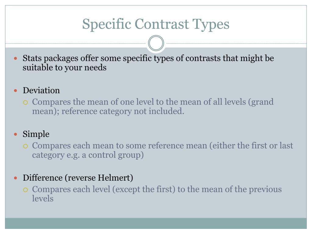 Specific Contrast Types