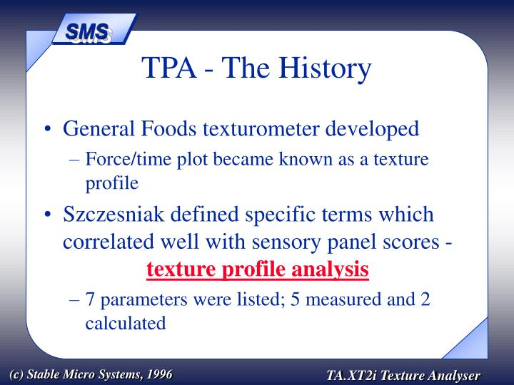 Tpa the history