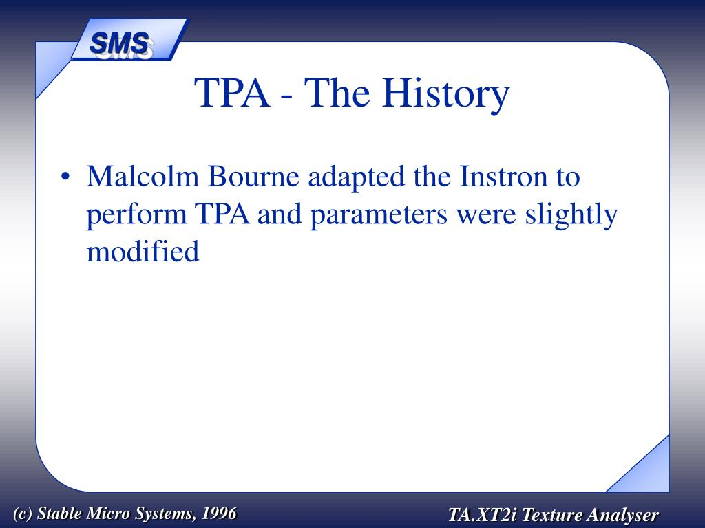 TPA - The History