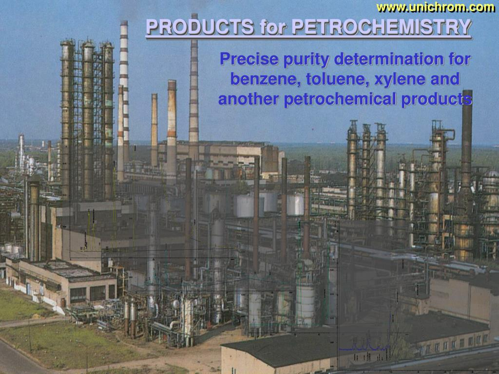 Precise purity determination for benzene, toluene, xylene and another petrochemical products