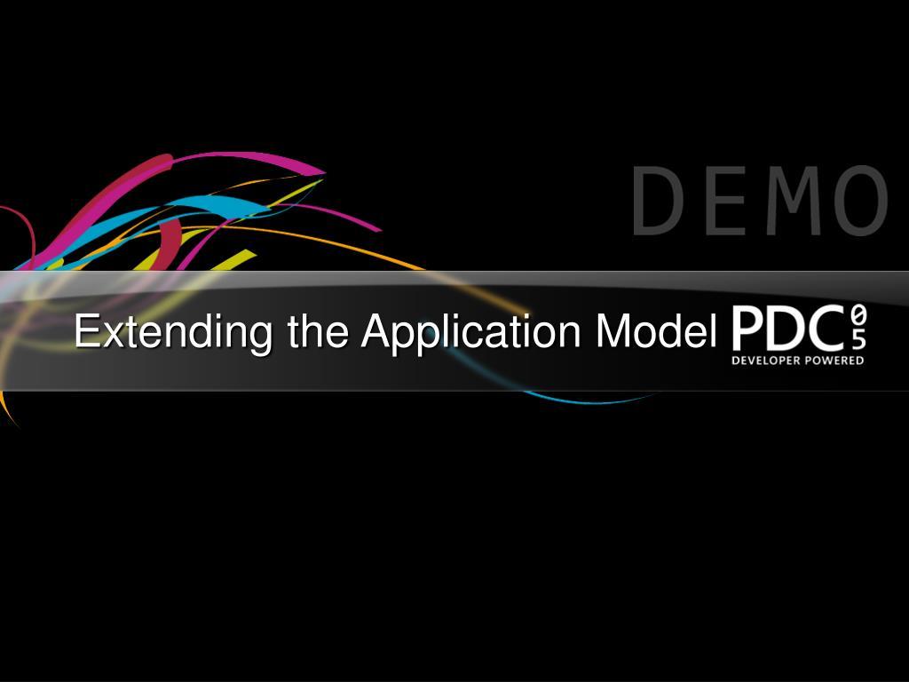 Extending the Application Model