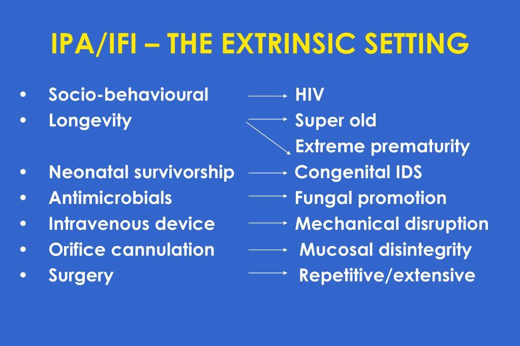 IPA/IFI – THE EXTRINSIC SETTING