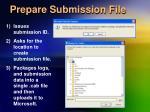 prepare submission file