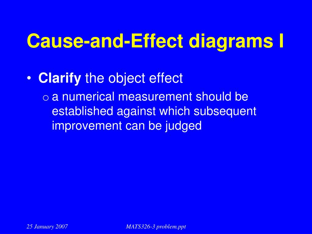 Cause-and-Effect diagrams I