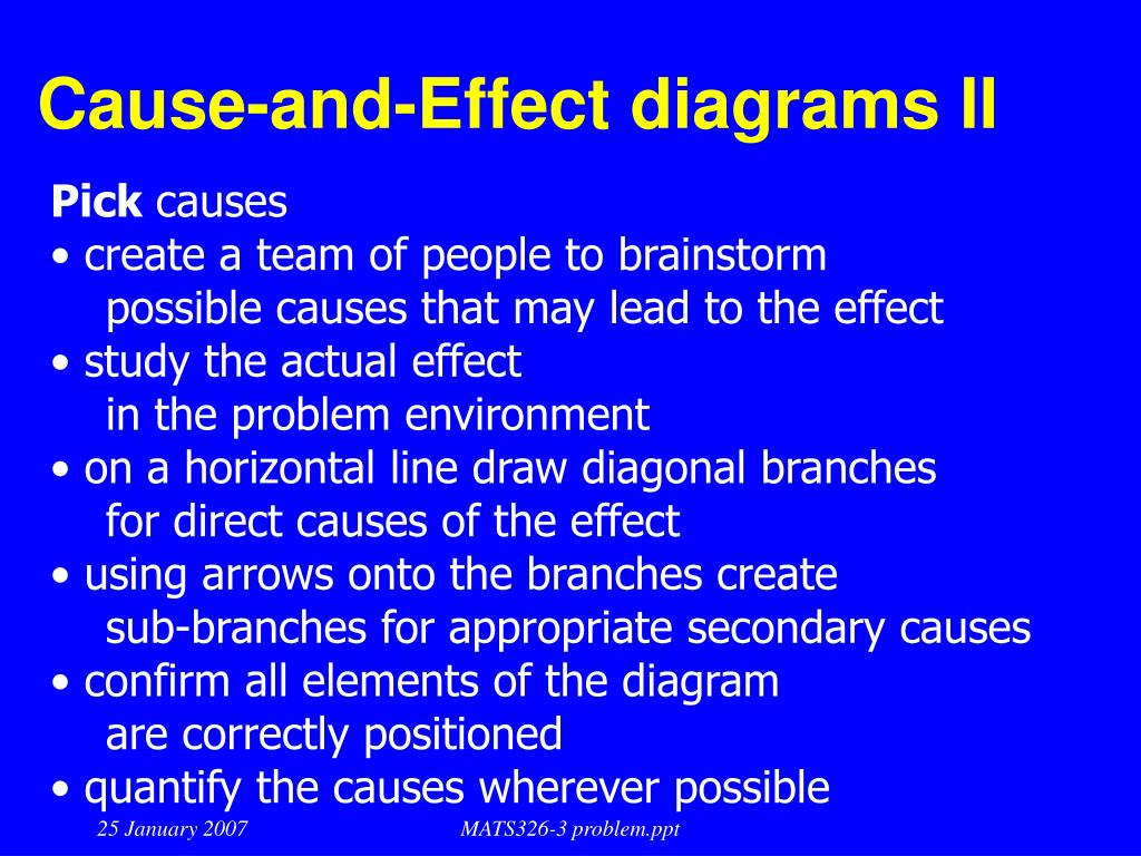 Cause-and-Effect diagrams II