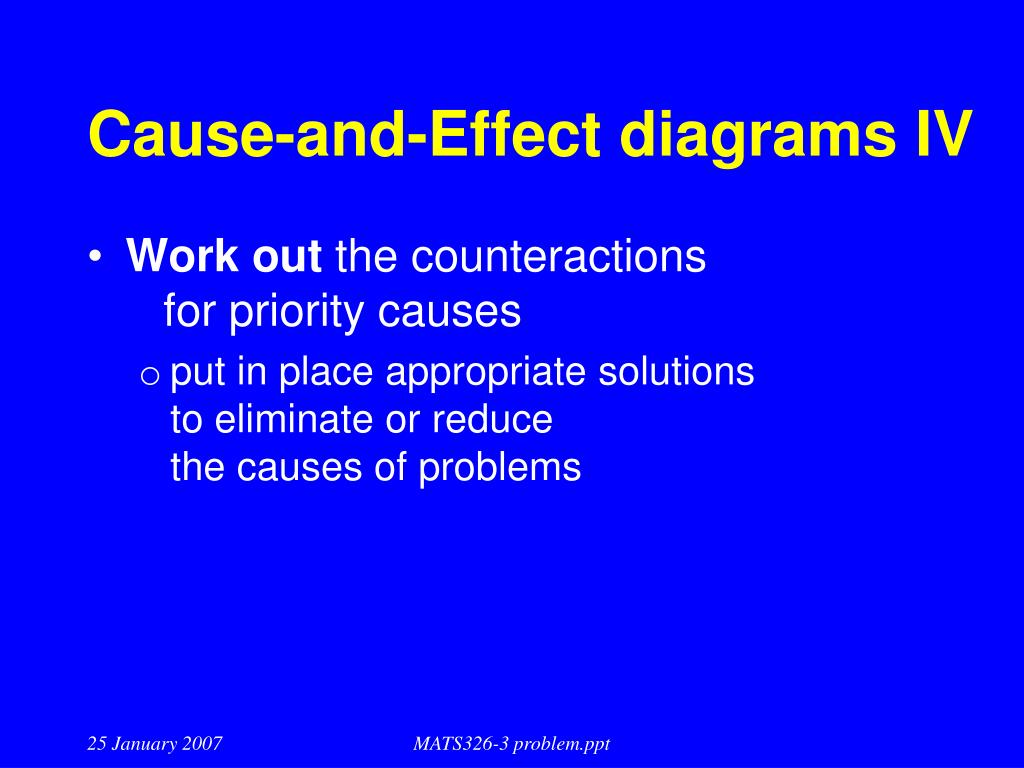 Cause-and-Effect diagrams IV