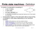 finite state machines definition