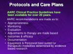 protocols and care plans11