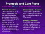 protocols and care plans12