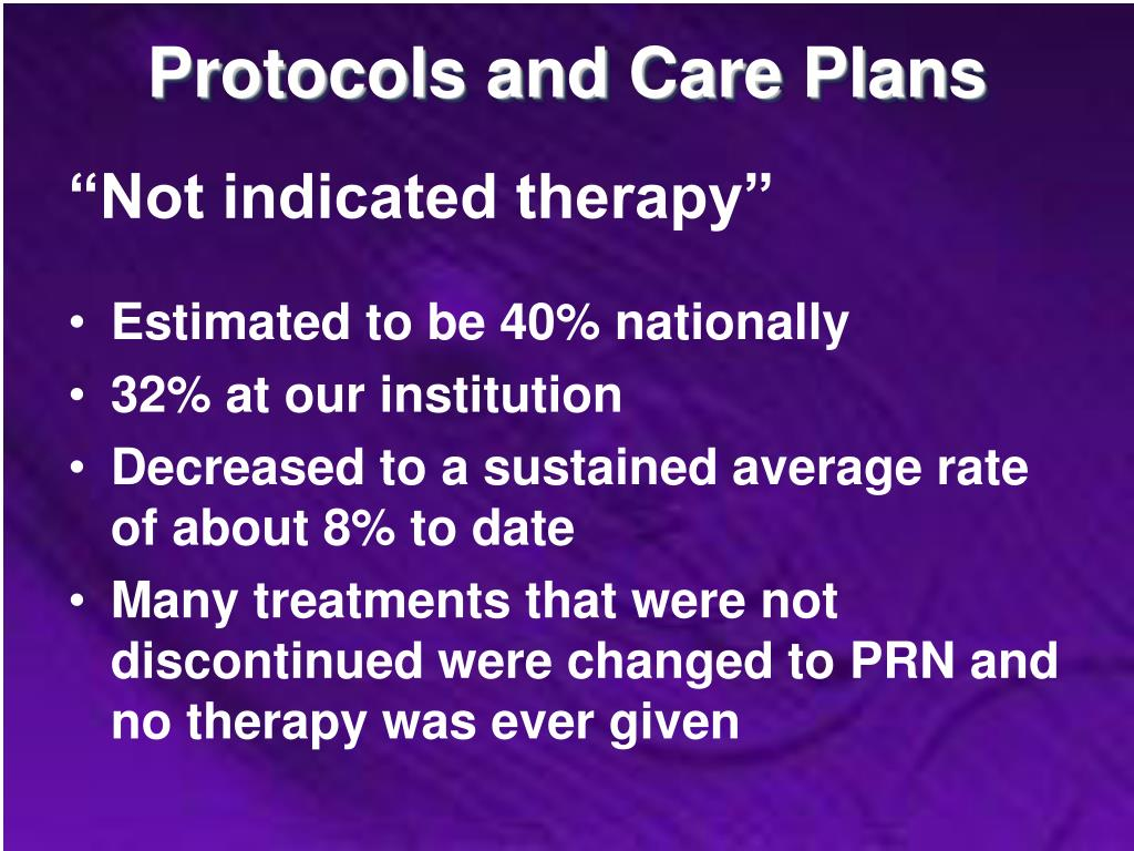 Protocols and Care Plans