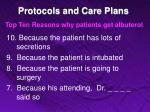 protocols and care plans5