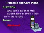 protocols and care plans9