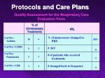 quality assessment for the respiratory care evaluation form