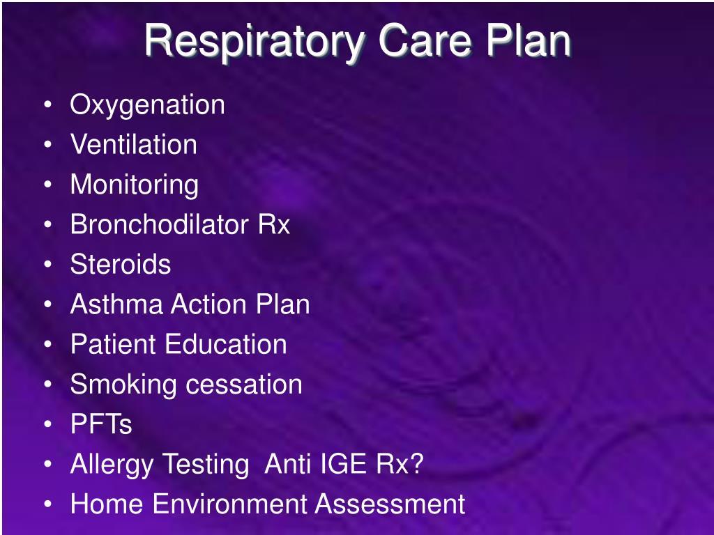 Respiratory Care Plan