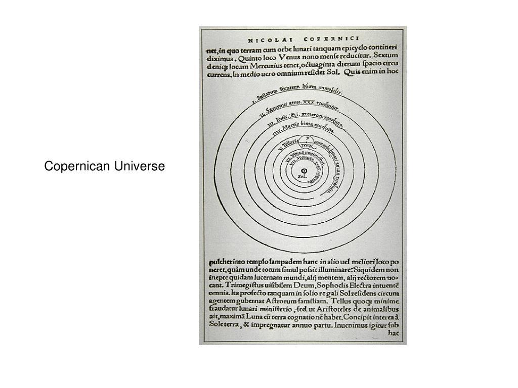 Copernican Universe