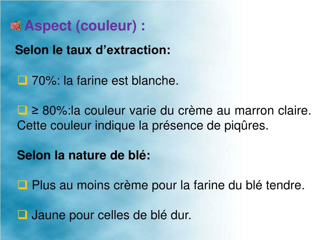 Aspect (couleur):