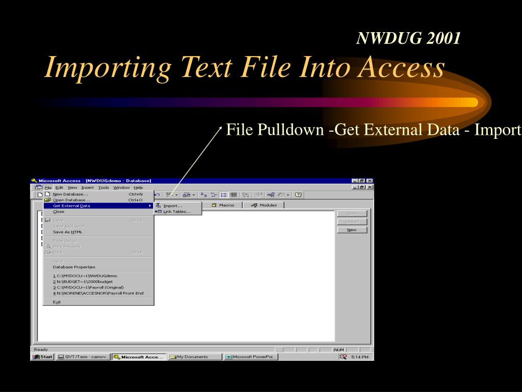 Importing Text File Into Access