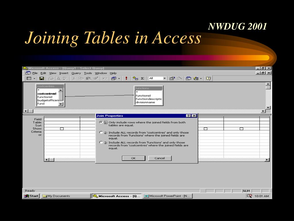 Joining Tables in Access