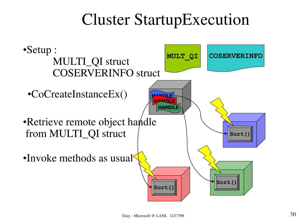 Cluster StartupExecution