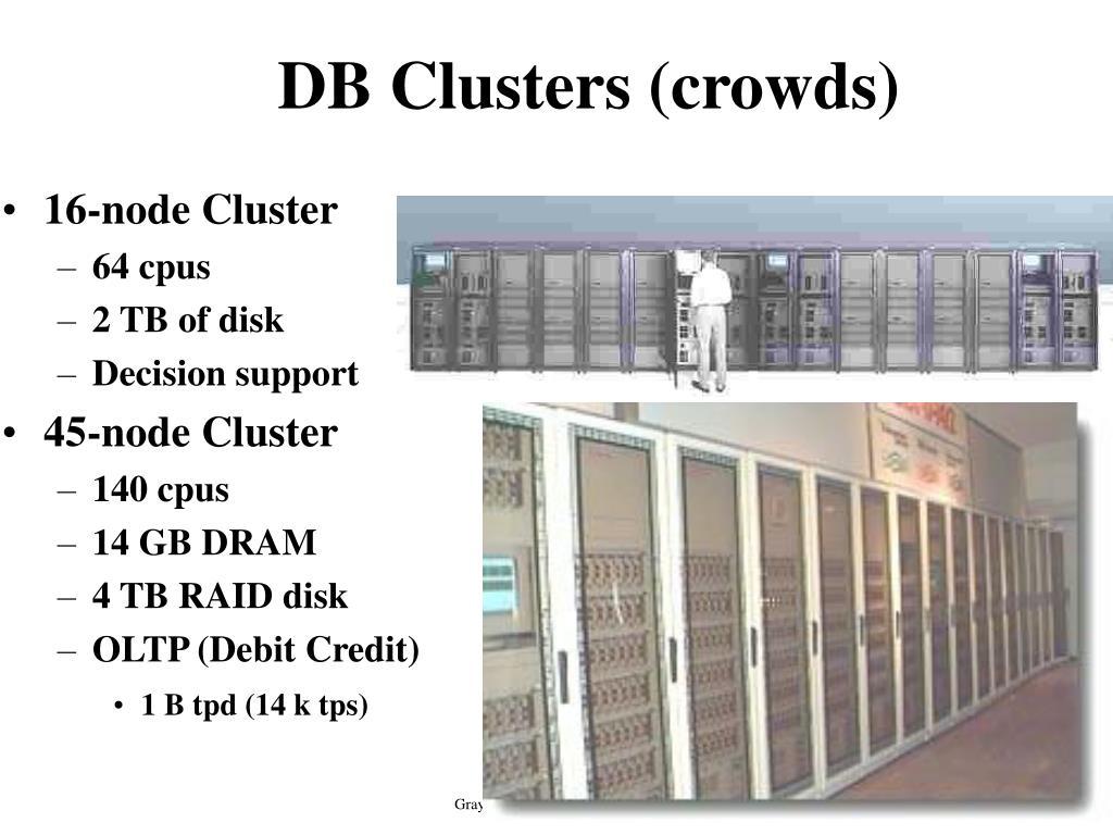 DB Clusters (crowds)