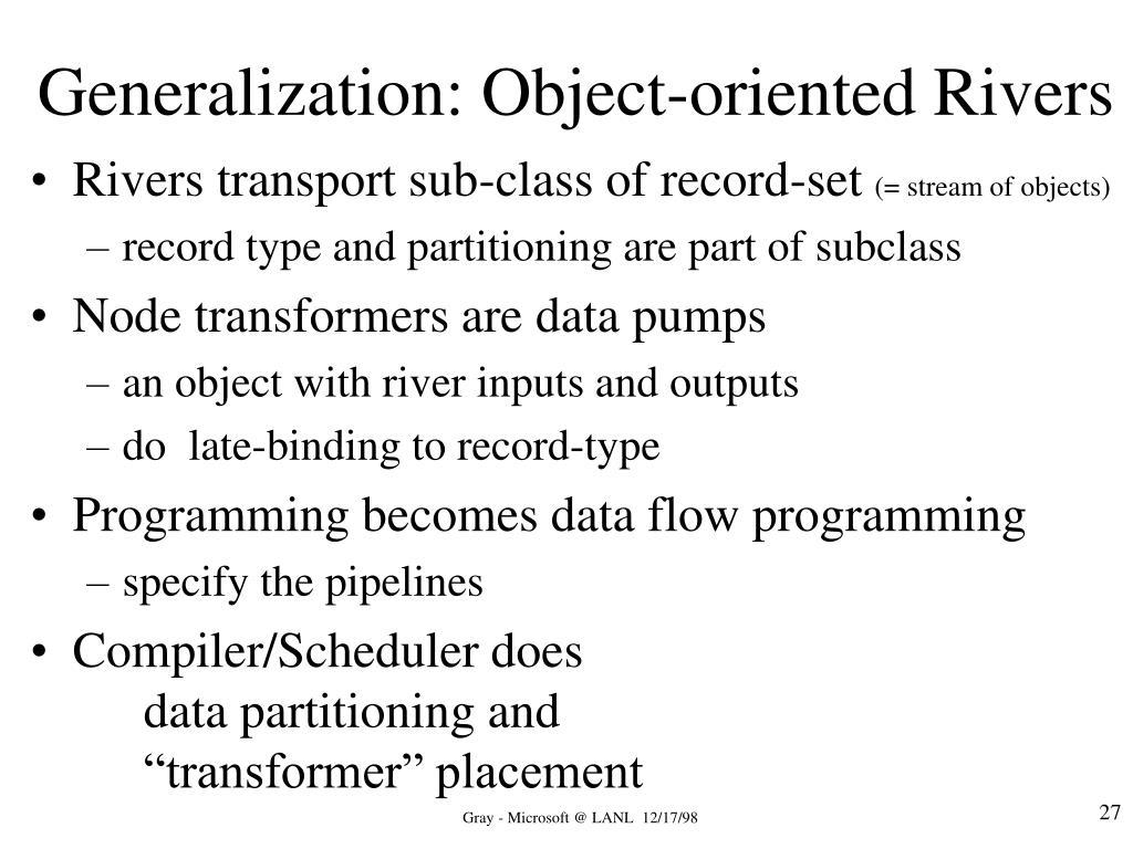 Generalization: Object-oriented Rivers