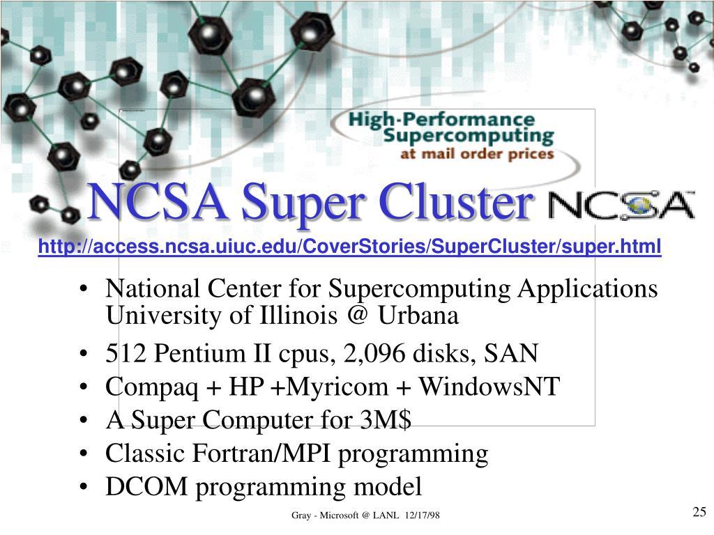 NCSA Super Cluster
