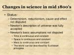 changes in science in mid 1800 s