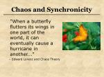 chaos and synchronicity30