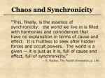 chaos and synchronicity32