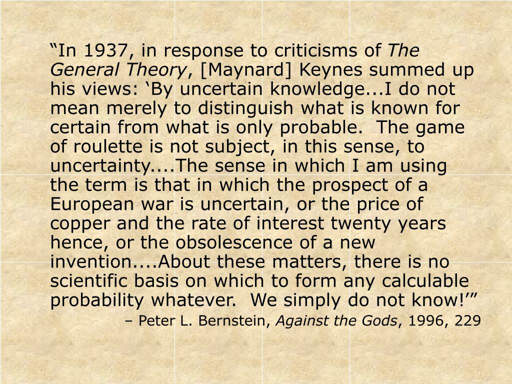 """In 1937, in response to criticisms of"