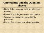 uncertainty and the quantam theory73