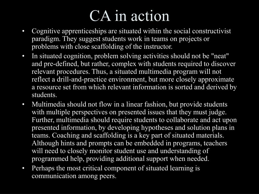 CA in action