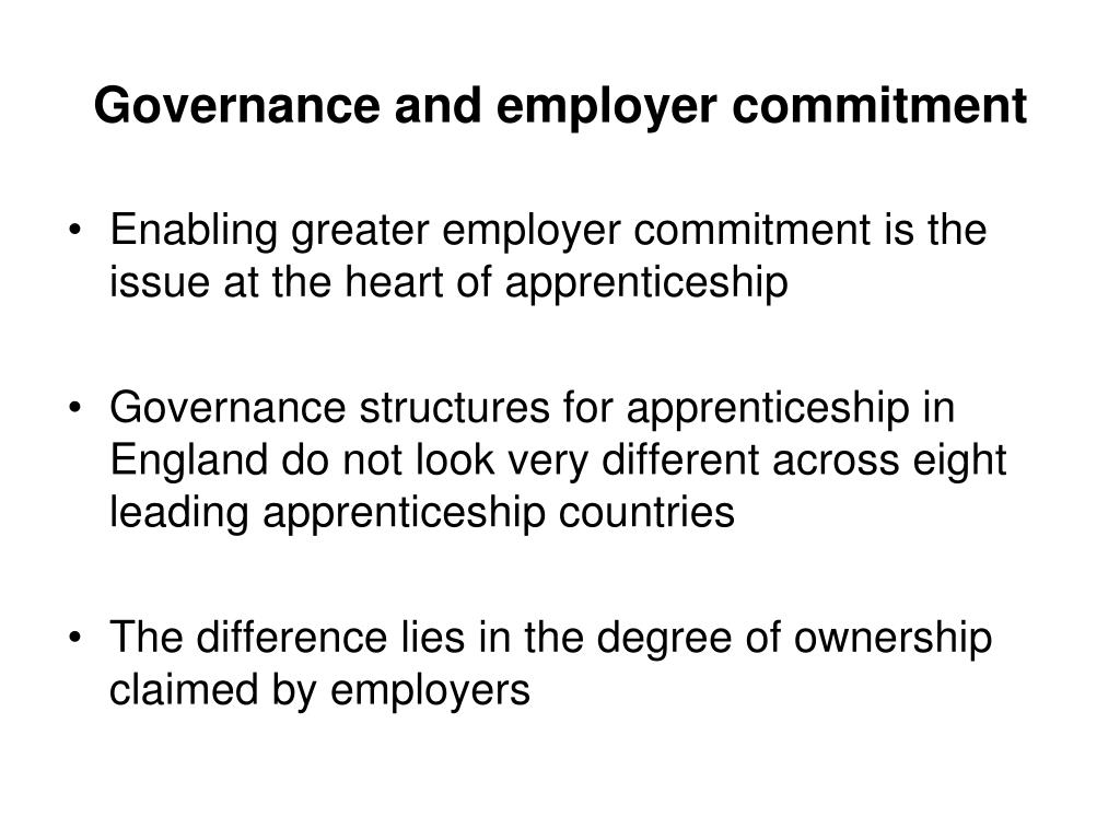 Governance and employer commitment