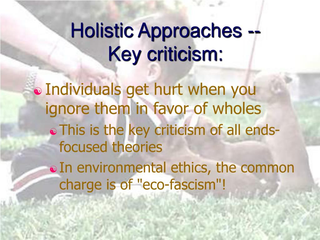 Holistic Approaches -- Key criticism: