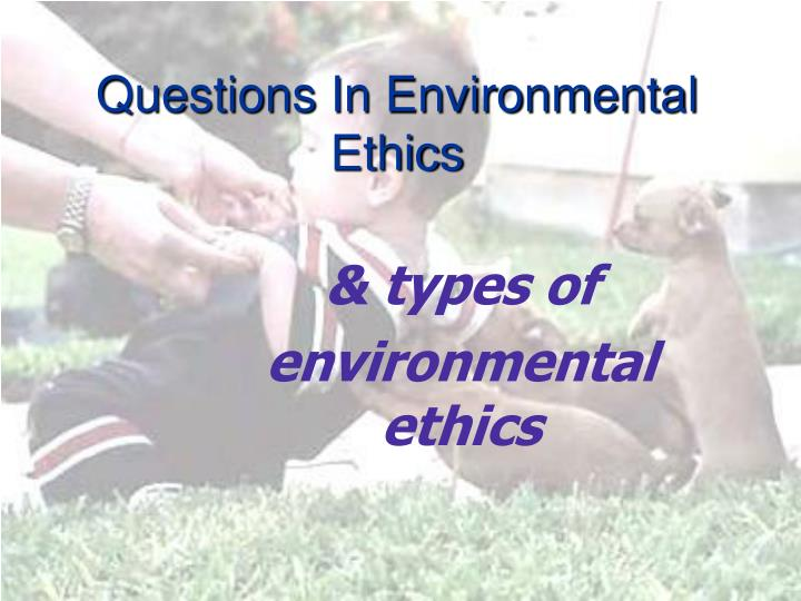 Questions in environmental ethics