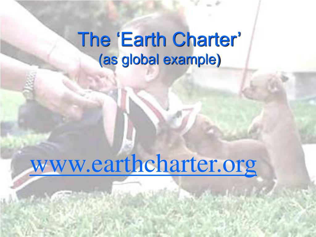 The 'Earth Charter'