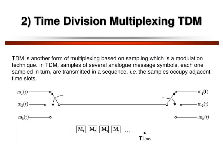 2) Time Division Multiplexing TDM