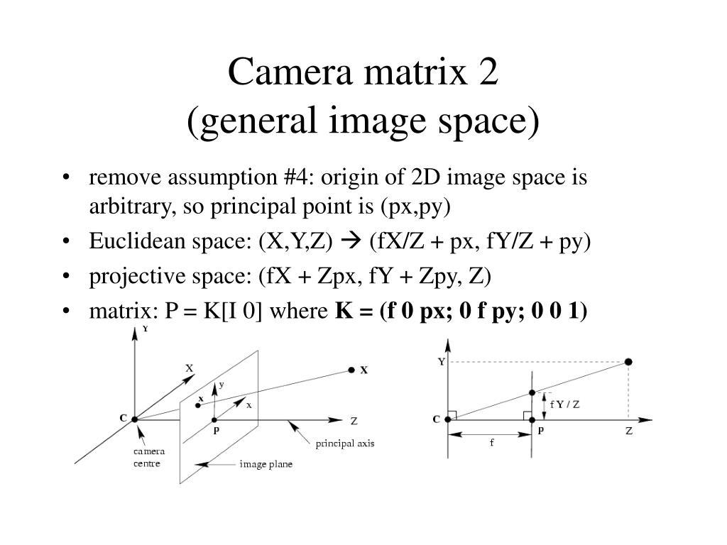 Camera matrix 2