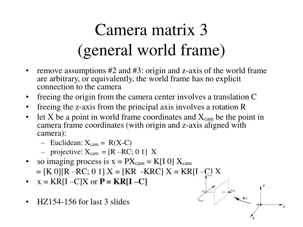 Camera matrix 3