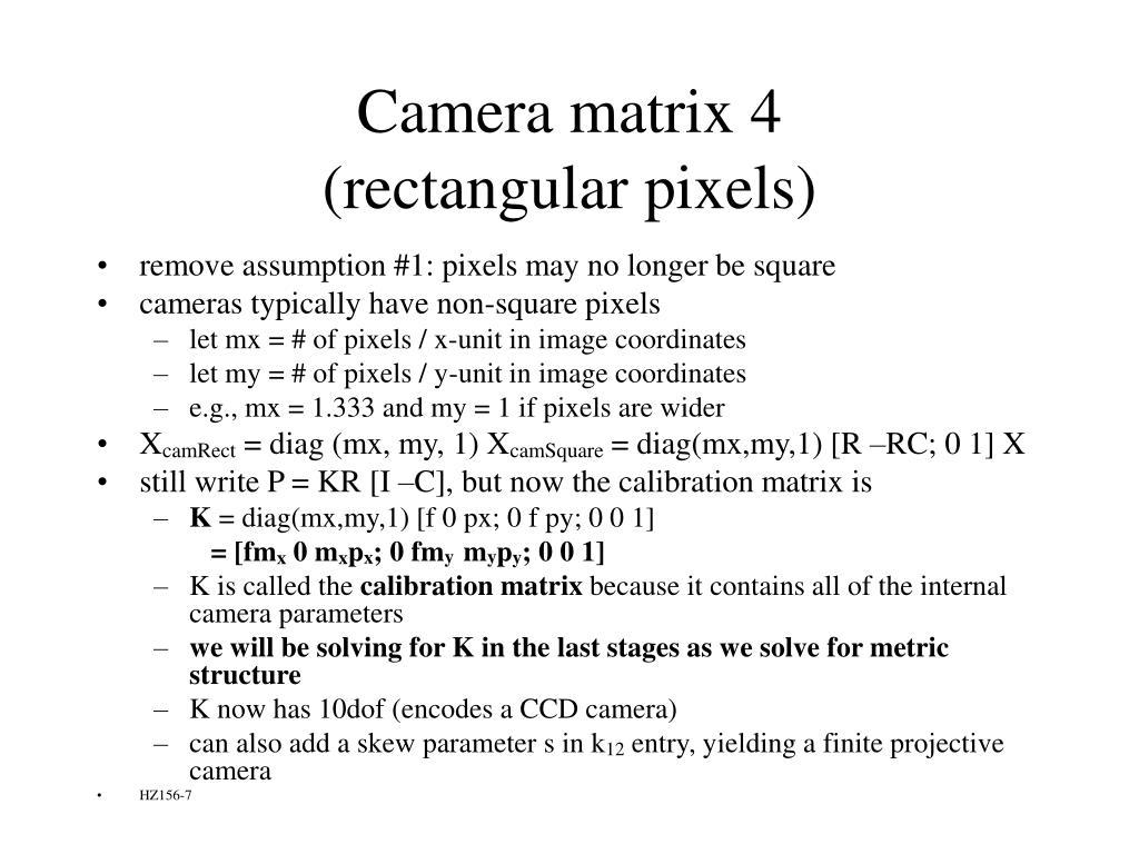 Camera matrix 4