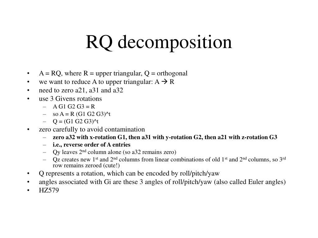 RQ decomposition