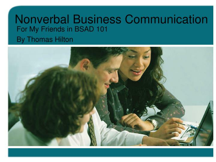 Nonverbal business communication