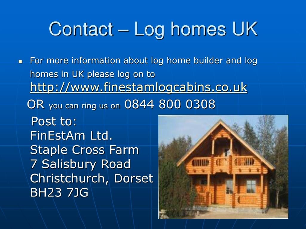 Contact – Log homes UK