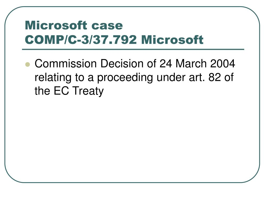 Microsoft case